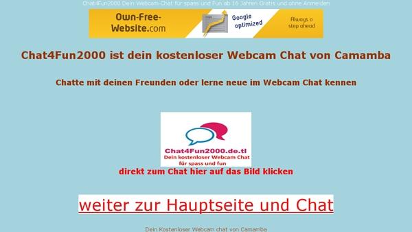 Chat4Fun2000 Dein Kostenloser Webcam Chat ohne Anmelden